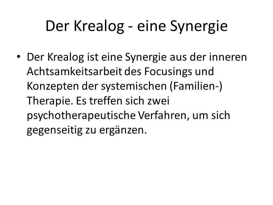 Der Krealog - eine Synergie Der Krealog ist eine Synergie aus der inneren Achtsamkeitsarbeit des Focusings und Konzepten der systemischen (Familien-)