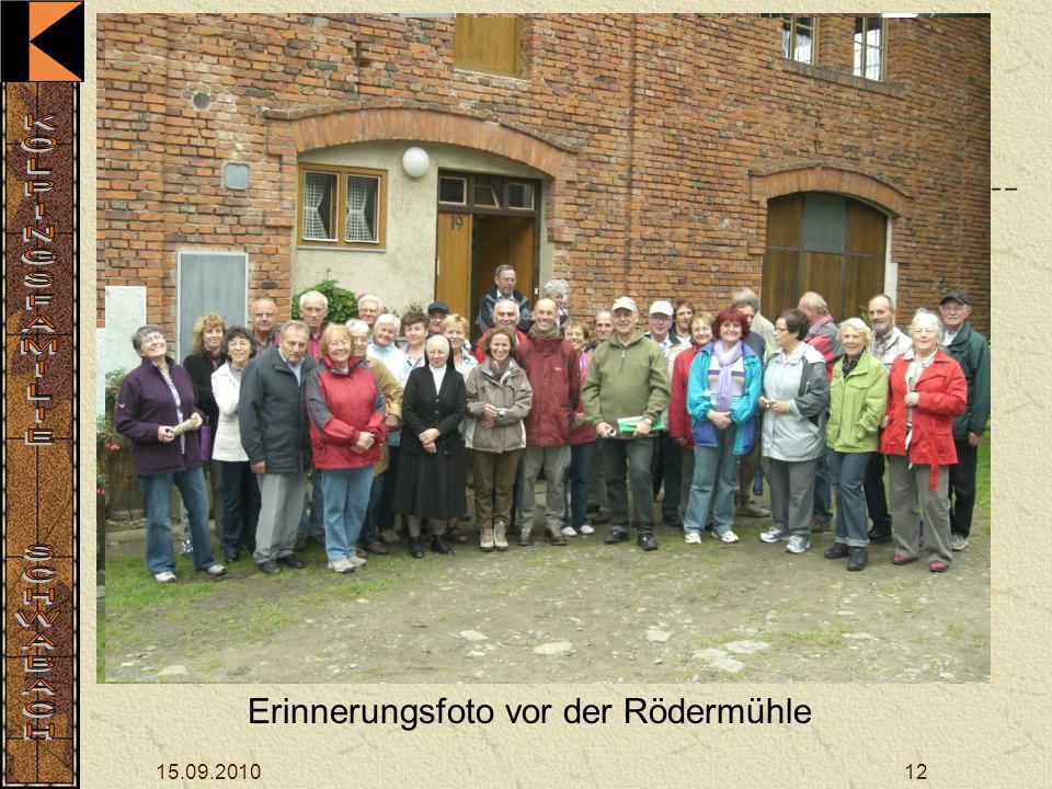 15.09.201012 Erinnerungsfoto vor der Rödermühle