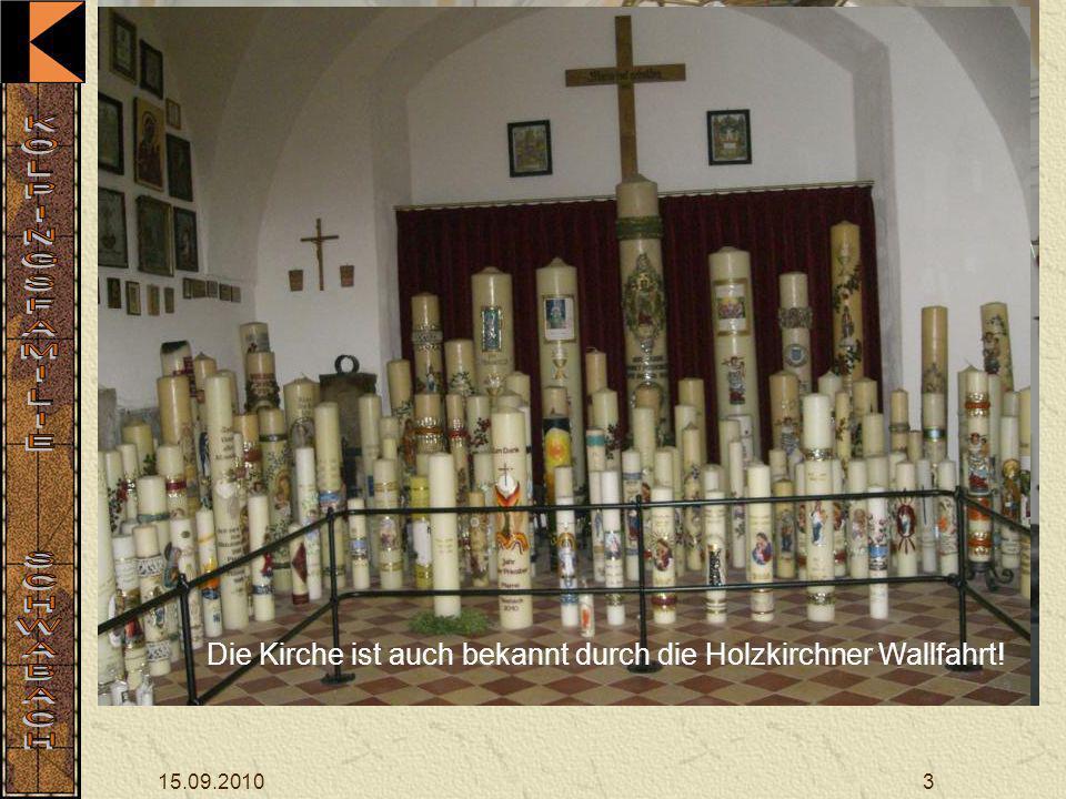 15.09.20103 Nach der Begrüßung und dem Morgenlob ging die Fahrt staufrei auf der Autobahn zur Rast am Bogenberg, wo die Asam-Kirche besichtigt wurde.
