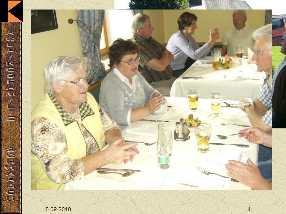 15.09.20104 Gegen 11 Uhr erreichte die Gruppe Hammern, um 12 Uhr wurde das Mittagessen eingenommen.