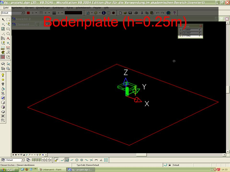 Bodenplatte (h=0.25m)