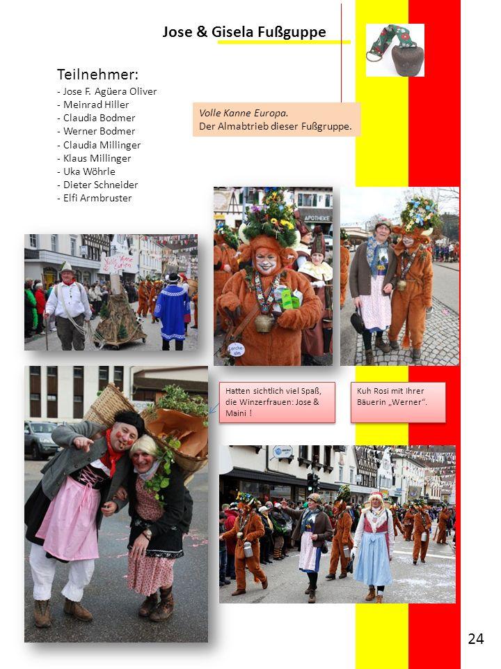 Jose & Gisela Fußguppe Teilnehmer: - Jose F. Agüera Oliver - Meinrad Hiller - Claudia Bodmer - Werner Bodmer - Claudia Millinger - Klaus Millinger - U