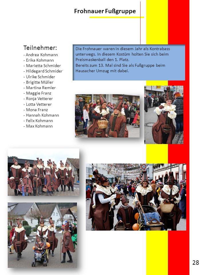 Frohnauer Fußgruppe Teilnehmer: - Andrea Kohmann - Erika Kohmann - Marietta Schmider - Hildegard Schmider - Ulrike Schmider - Brigitte Müller - Martin