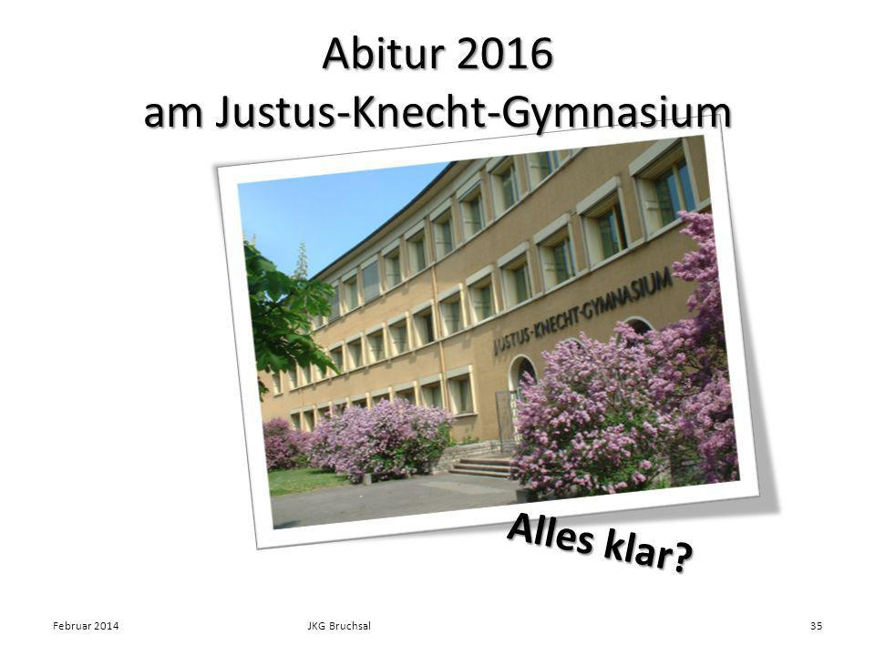 Abitur 2016 am Justus-Knecht-Gymnasium Februar 2014JKG Bruchsal35 Alles klar?