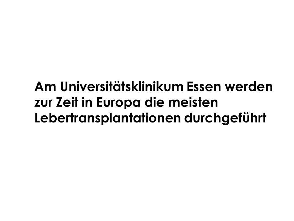 Am Universitätsklinikum Essen werden zur Zeit in Europa die meisten Lebertransplantationen durchgeführt