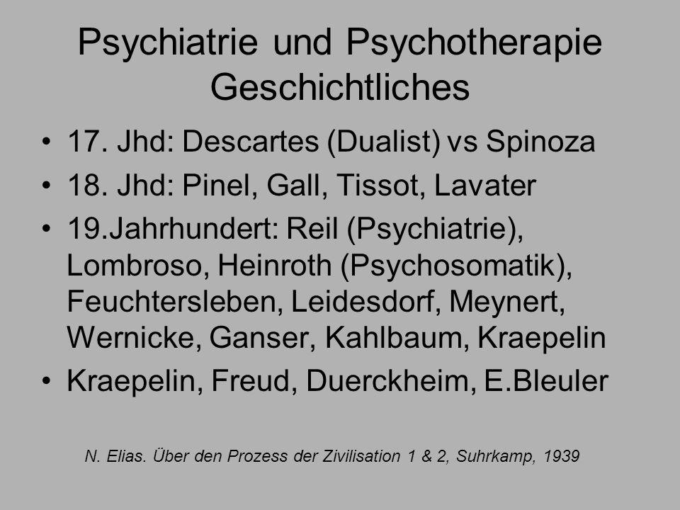 Psychiatrie und Psychotherapie Geschichtliches 17.