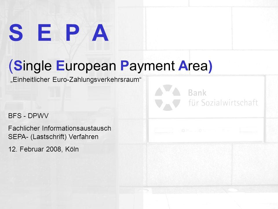Allgemeine Organisation Agenda: Was ist SEPA Wann startet SEPA Wer macht mit SEPA-Überweisung SEPA-Lastschrift SEPA-Mandat Aktueller Stand Ausblick