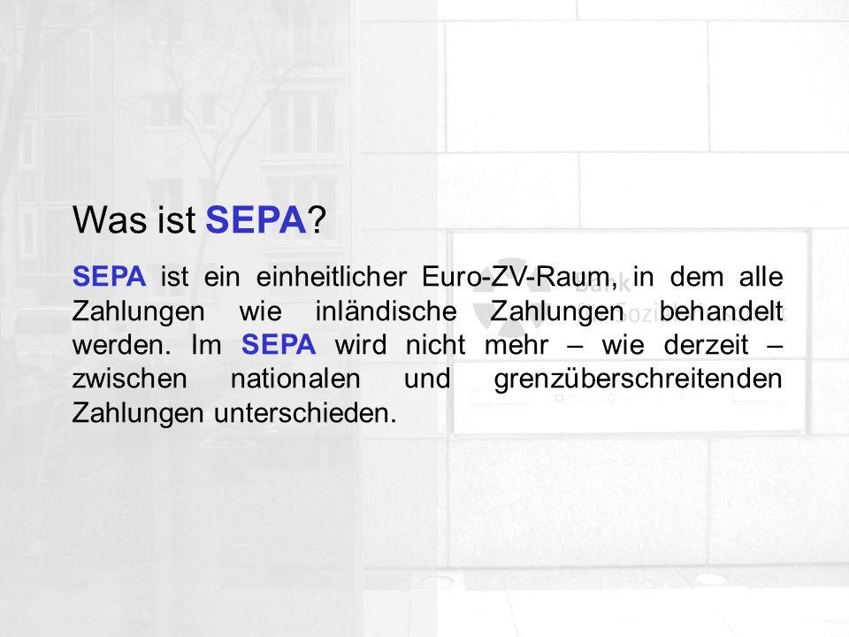 Allgemeine Organisation Wann startet SEPA.SEPA wird ab dem 28.
