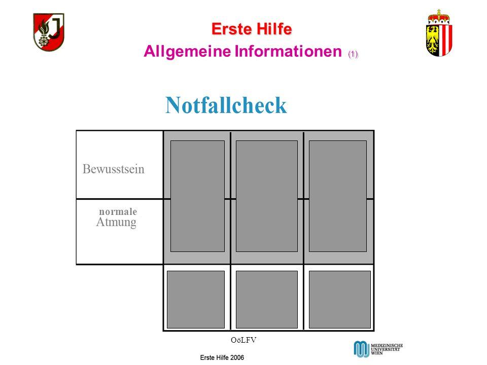 Erste Hilfe BRONZE Allgemeine Informationen ( Der Inhalt dieser Folien wird nicht geprüft!) OöLFV