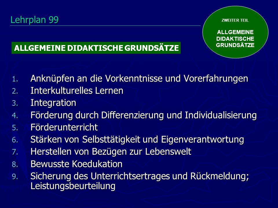 ZWEITER TEIL ALLGEMEINE DIDAKTISCHE GRUNDSÄTZE 1.