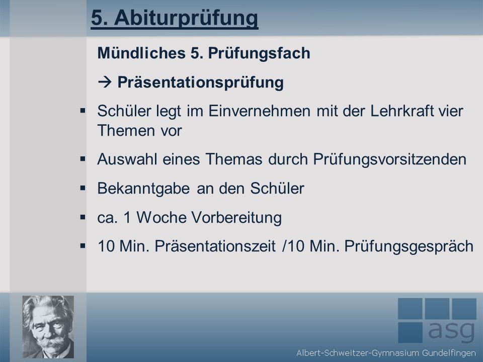5.Abiturprüfung Mündliches 5.