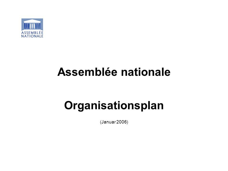 Assemblée nationale Organisationsplan (Januar 2006)