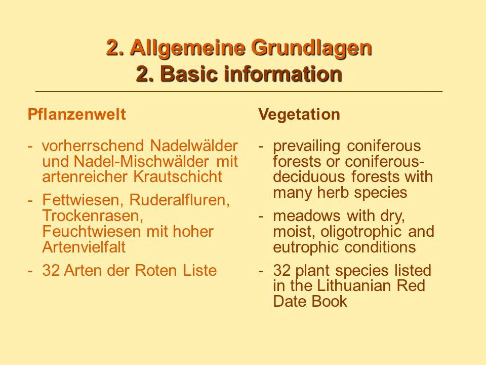 2. Allgemeine Grundlagen 2. Basic information 2.