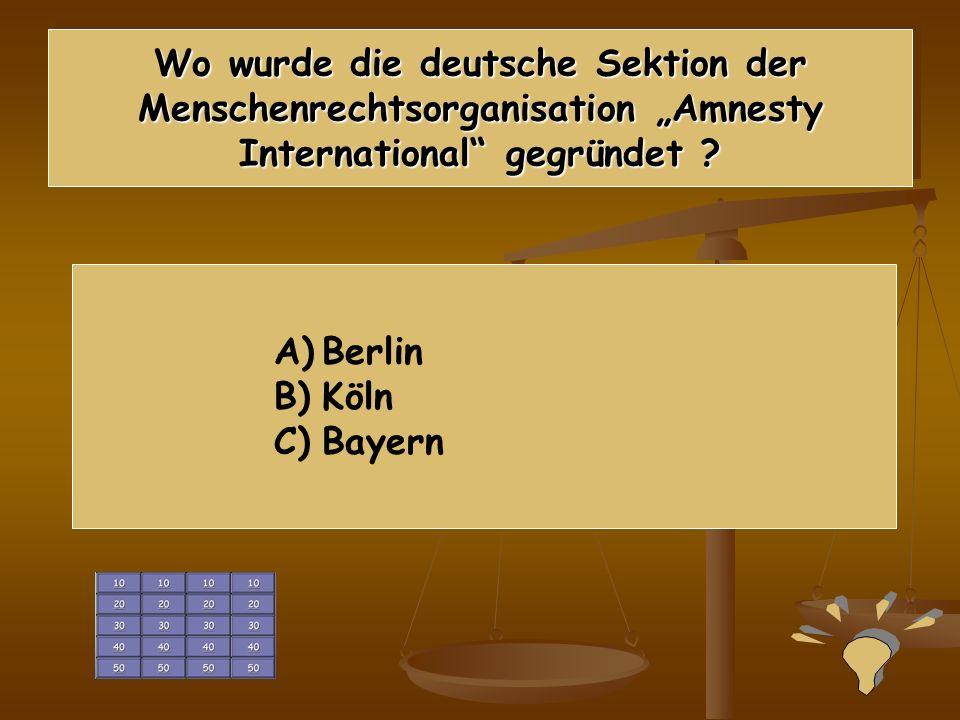 40 Punkte Lösung B) Kollektive Rechte von Gesellschaften und Völkern