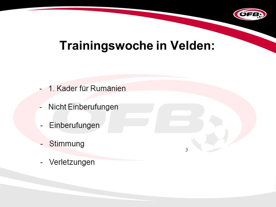 3 Trainingswoche in Velden: - 1.