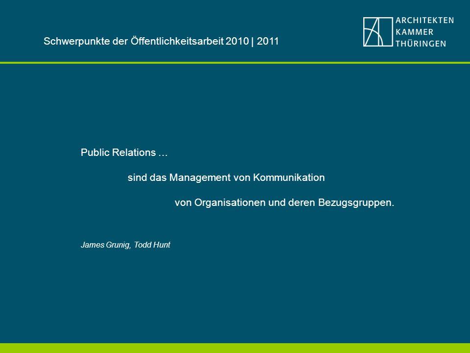 Public Relations … sind das Management von Kommunikation von Organisationen und deren Bezugsgruppen.