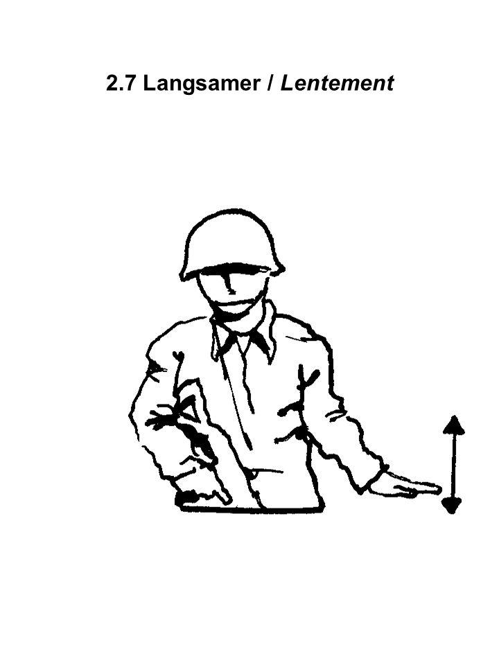 2.7 Langsamer / Lentement