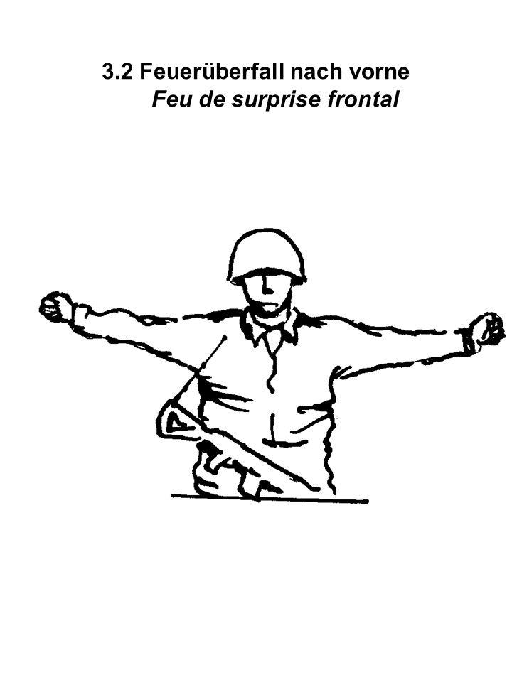 3.2 Feuerüberfall nach vorne Feu de surprise frontal