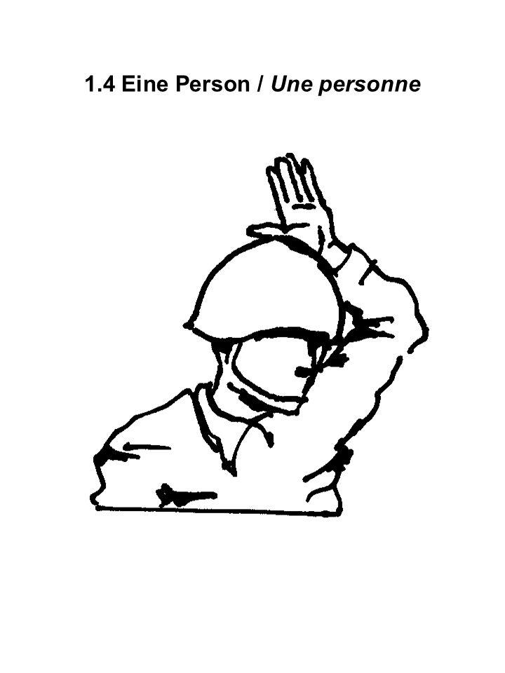 1.4 Eine Person / Une personne
