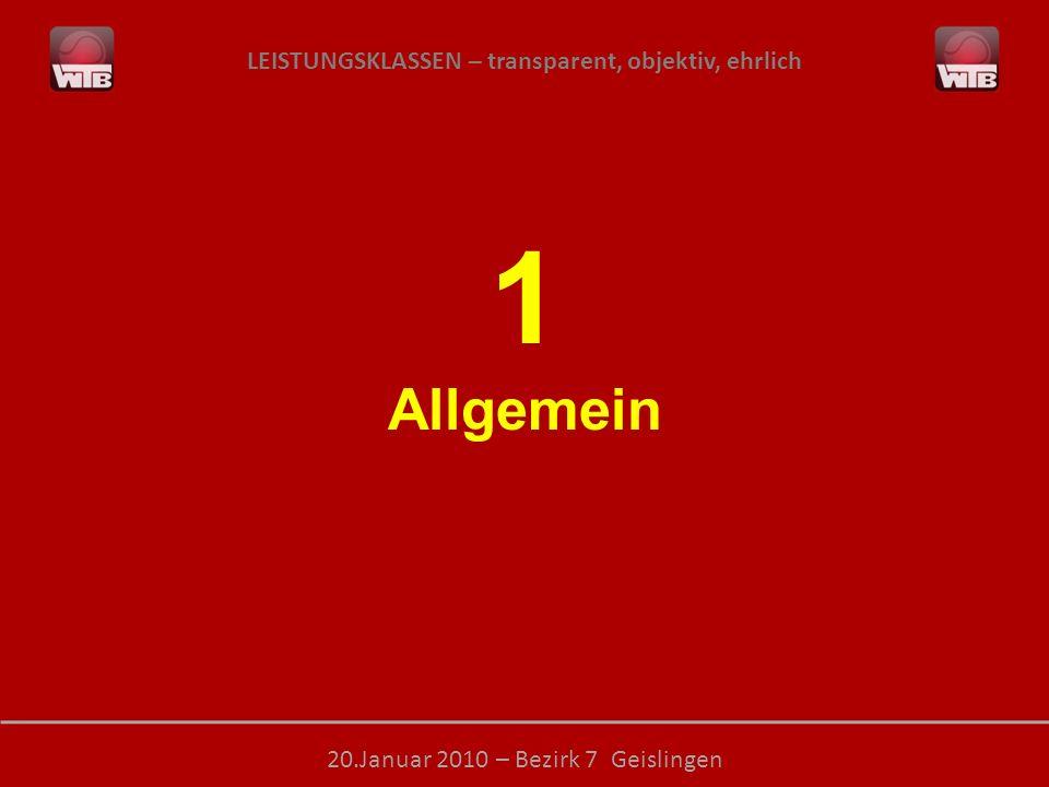 LEISTUNGSKLASSEN – transparent, objektiv, ehrlich 20.Januar 2010 – Bezirk 7 Geislingen ID-Nummern: Beschluss der Sport- und Jugendkommission: Besitz einer Turnierspieler-ID-Nummer verpflichtend .