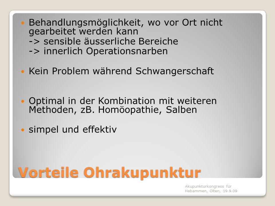 Somatotopie des Ohres Akupunkturkongress für Hebammen, Olten, 19.9.09