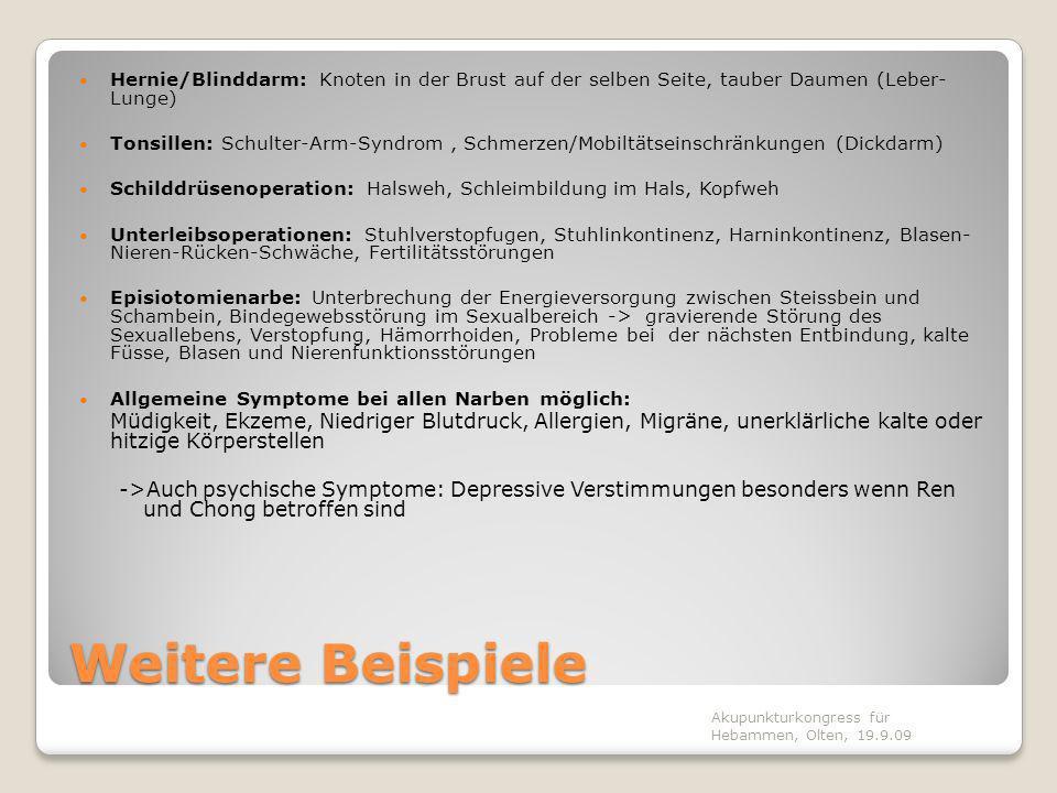Erkenntnis auch in Europa 1925: Ferdinand und Walter Huneke: Störfeldtheorie, Neuraltherapie 1951: Paul Nogier: Aurikulotherapie 1955: Willy Penzel: APM-Methode speziell für Narben Akupunkturkongress für Hebammen, Olten, 19.9.09