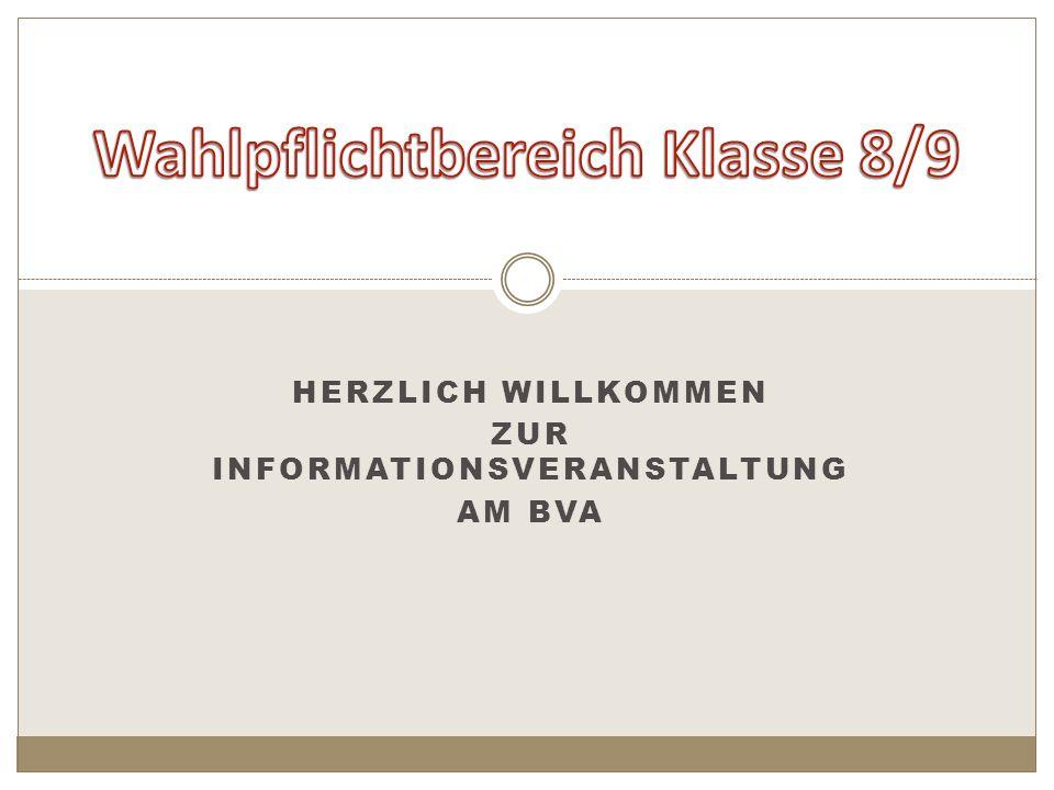HERZLICH WILLKOMMEN ZUR INFORMATIONSVERANSTALTUNG AM BVA