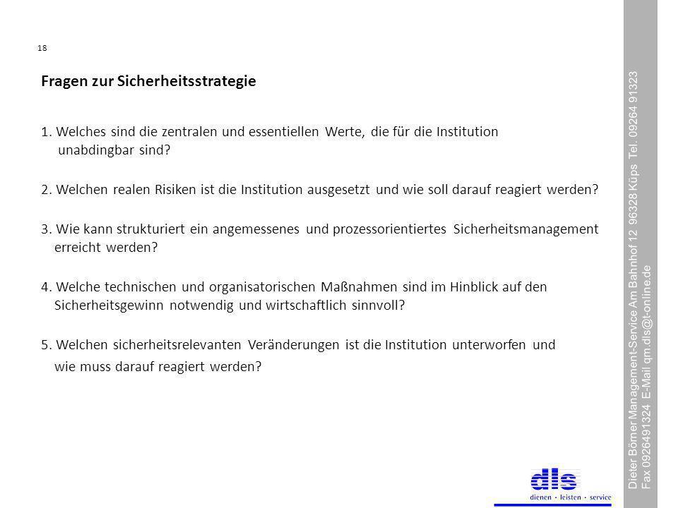 18 Dieter Börner Management-Service Am Bahnhof 12 96328 Küps Tel.