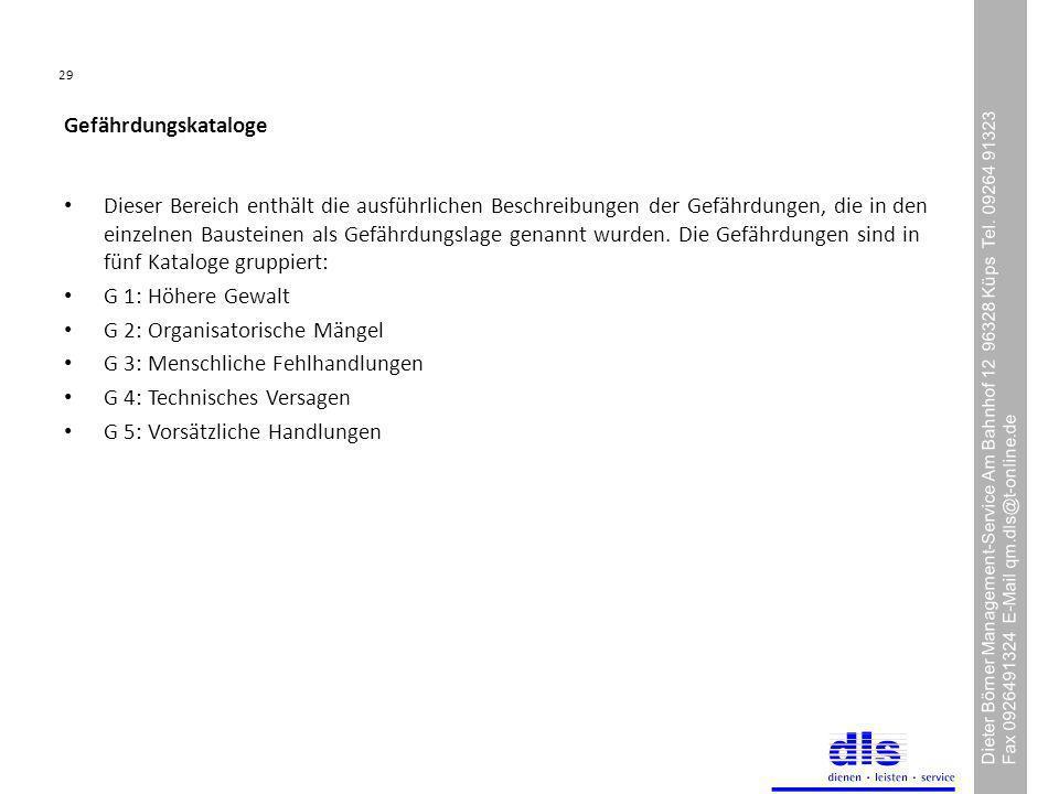 29 Dieter Börner Management-Service Am Bahnhof 12 96328 Küps Tel.