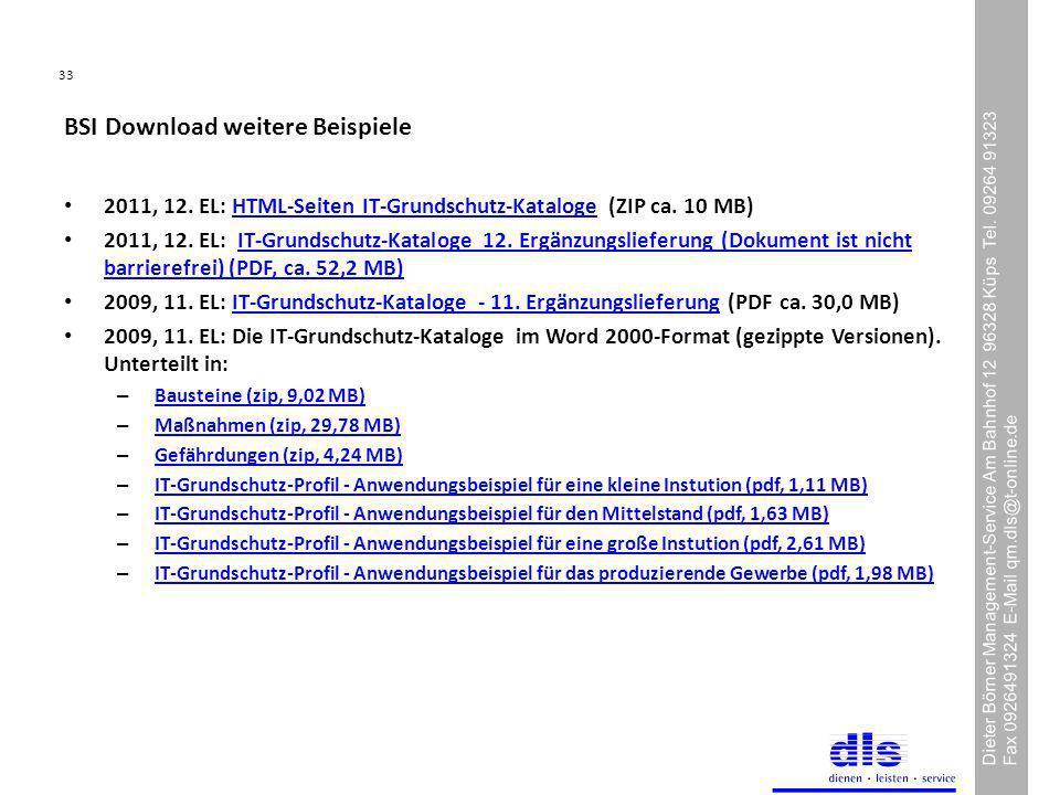33 Dieter Börner Management-Service Am Bahnhof 12 96328 Küps Tel.