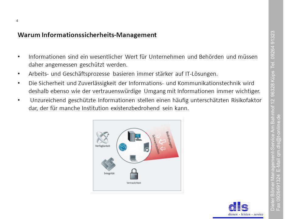 4 Dieter Börner Management-Service Am Bahnhof 12 96328 Küps Tel.