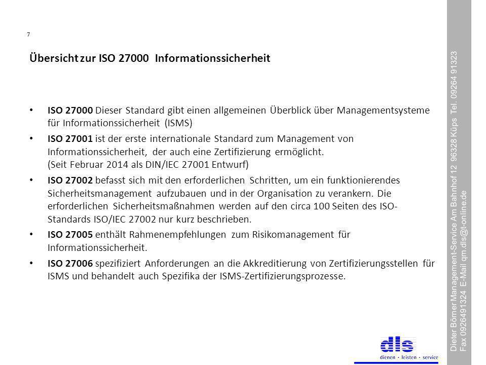 7 Dieter Börner Management-Service Am Bahnhof 12 96328 Küps Tel.