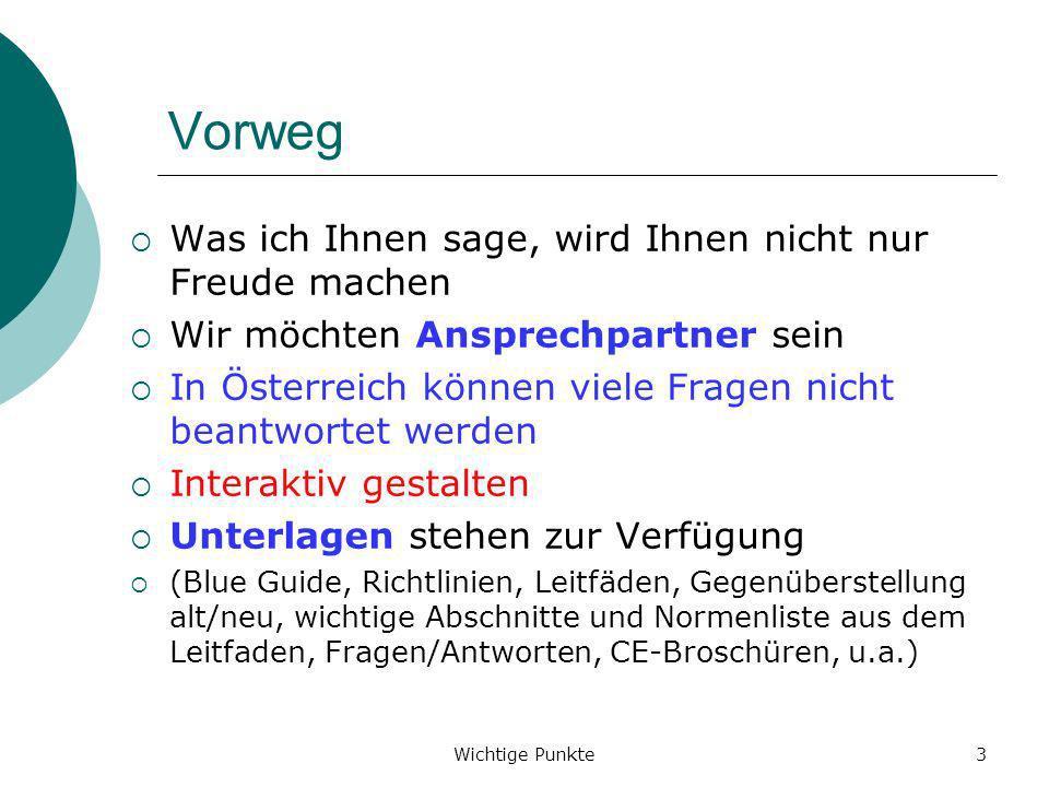 Wichtige Punkte64 EG-Konformitätserklärung - Richtlinie Anhang II Teil 1 Abschnitt A (Fortsetzung)...