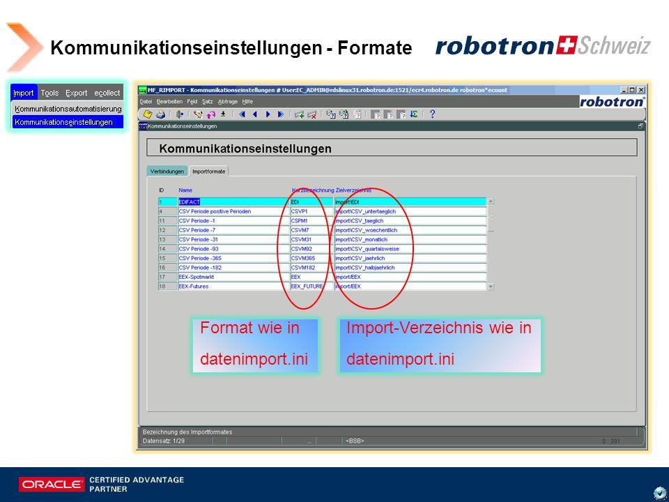 Import -> Kommunikationsautomatisierung