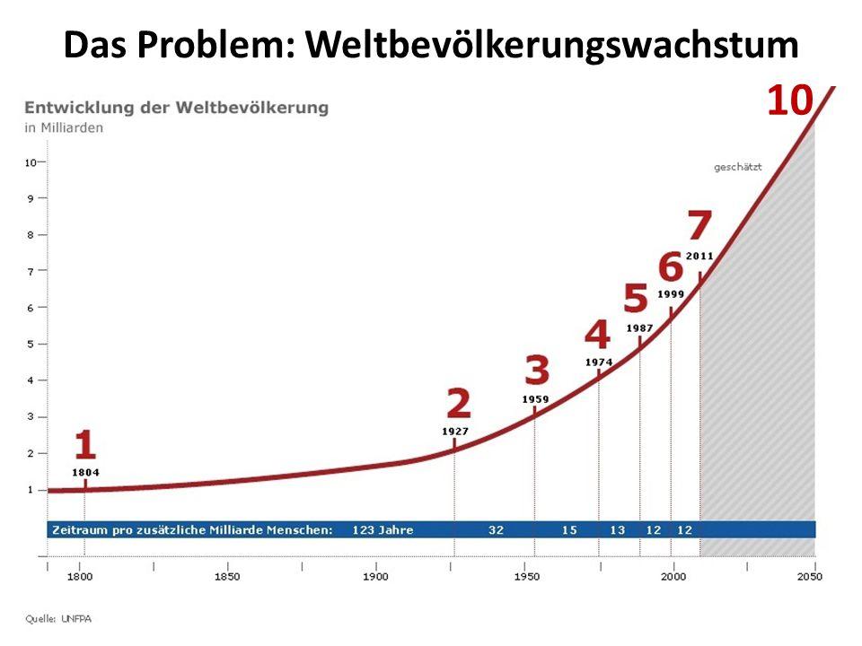 Das Problem: Weltbevölkerungswachstum 10