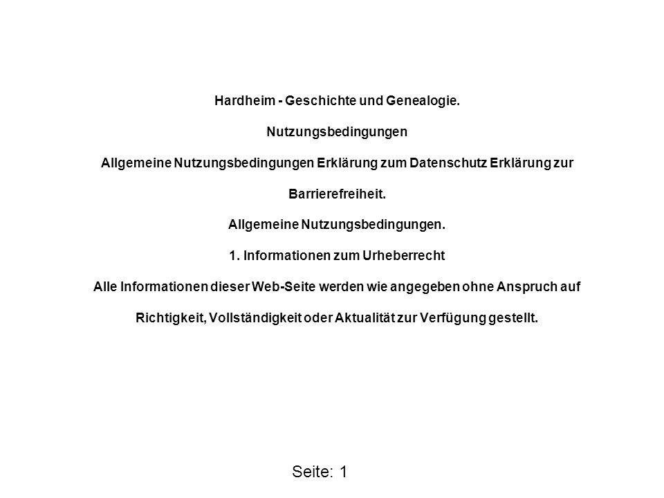 Hardheim - Geschichte und Genealogie. Nutzungsbedingungen Allgemeine Nutzungsbedingungen Erklärung zum Datenschutz Erklärung zur Barrierefreiheit. All