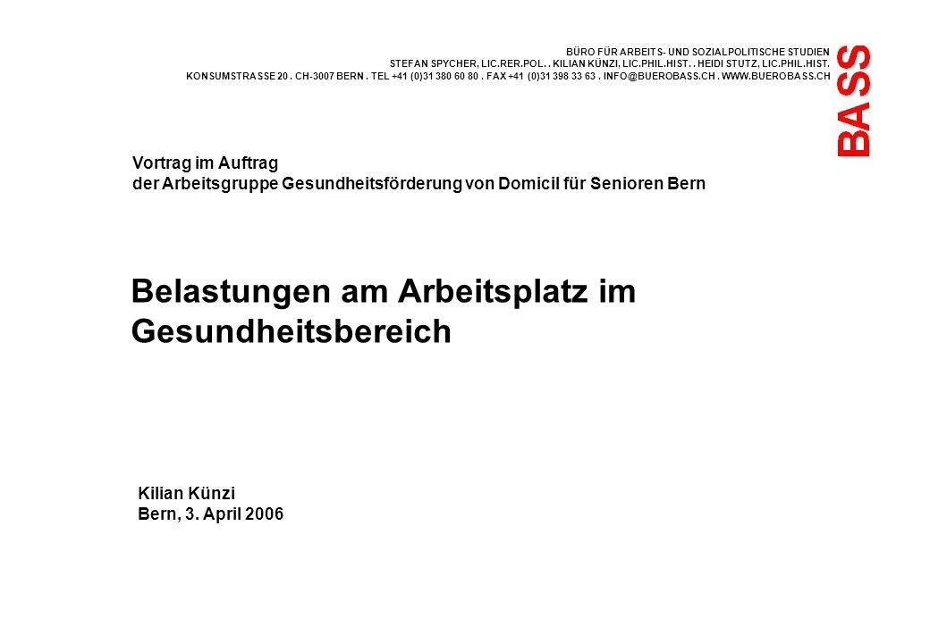 BÜRO FÜR ARBEITS- UND SOZIALPOLITISCHE STUDIEN STEFAN SPYCHER, LIC.RER.POL..