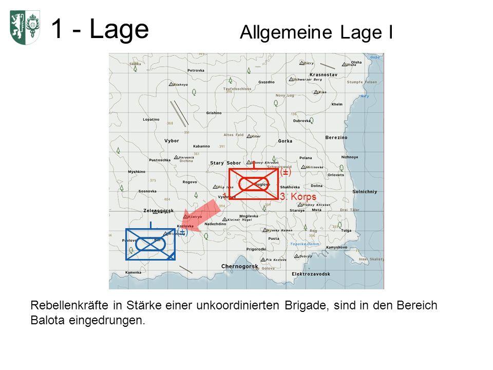 1 - Lage Allgemeine Lage I 1 (±) 3.