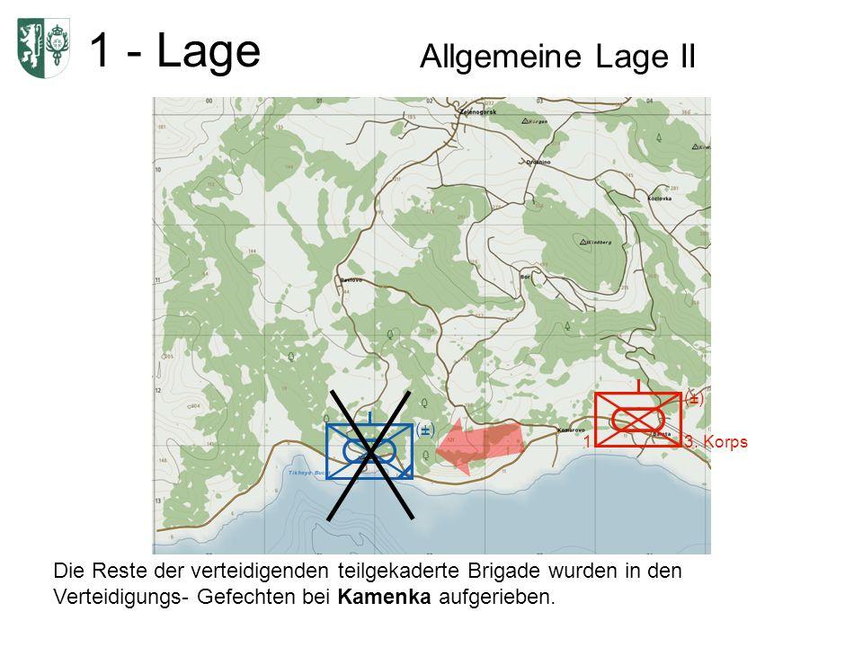 1 - Lage Allgemeine Lage II 1 (±) 3.
