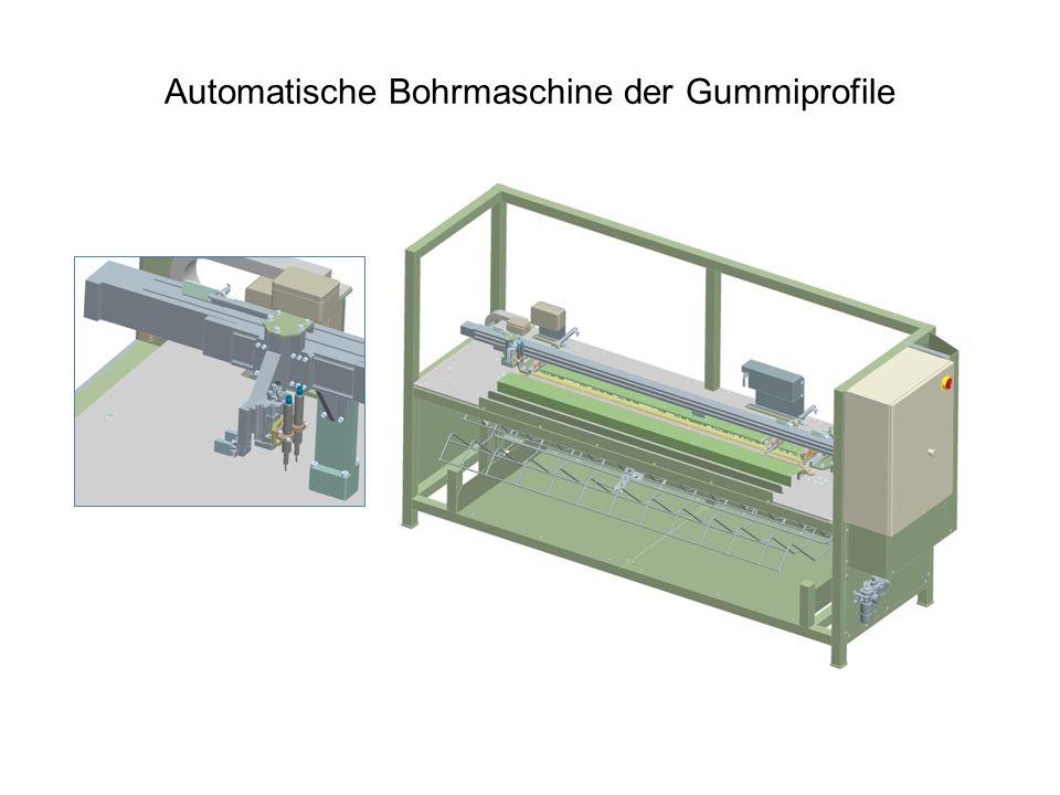 Automatische Bohrmaschine der Gummiprofile