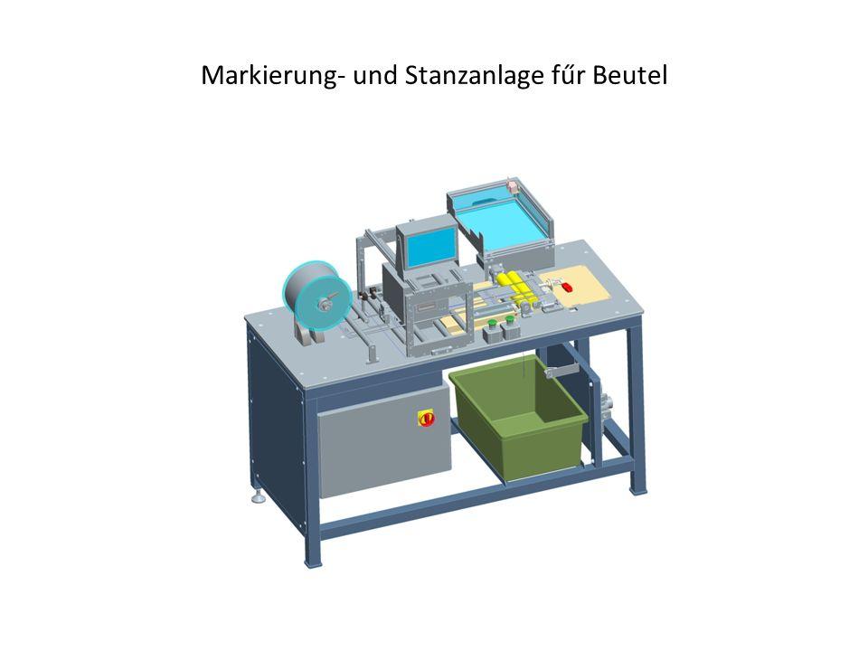 Markierung- und Stanzanlage fűr Beutel