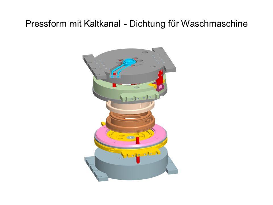 Pressform mit Kaltkanal - Dichtung fűr Waschmaschine