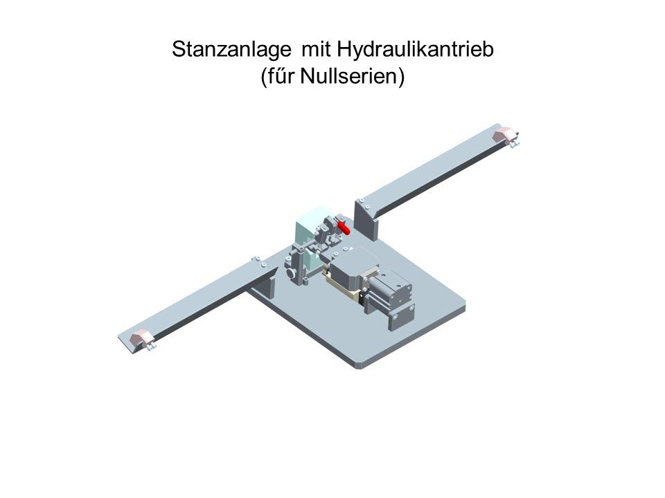 Abschneideanlage mit Handantrieb (fűr Nullserien)