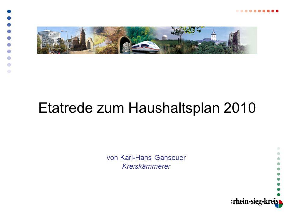 Etatrede zum Haushaltsplan 2010 von Karl-Hans Ganseuer Kreiskämmerer