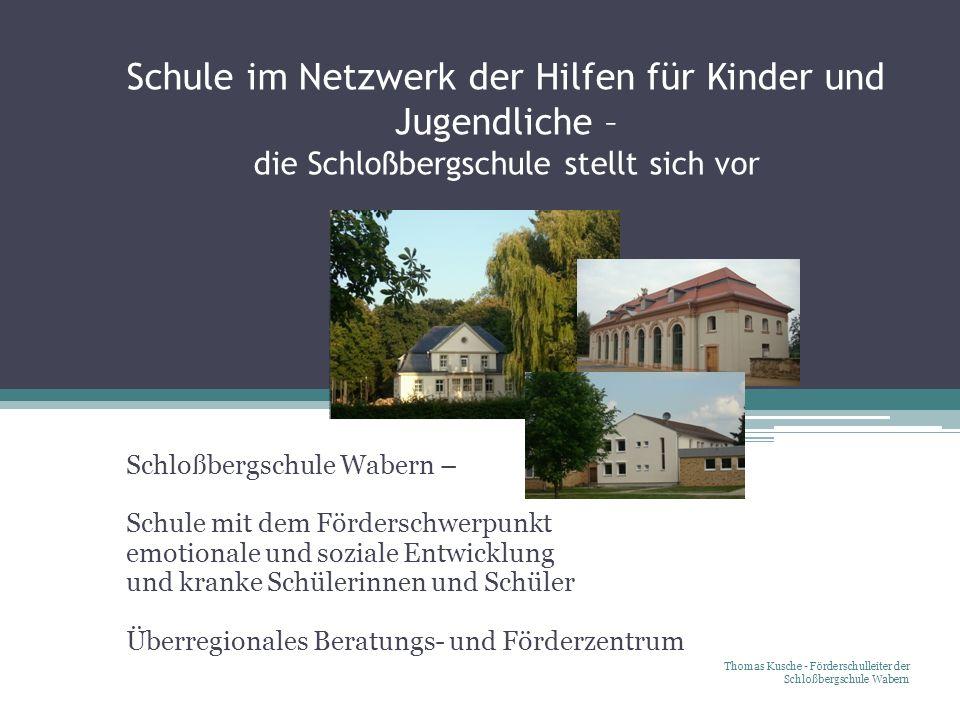 Schule im Netzwerk der Hilfen für Kinder und Jugendliche – die Schloßbergschule stellt sich vor Schloßbergschule Wabern – Schule mit dem Förderschwerp