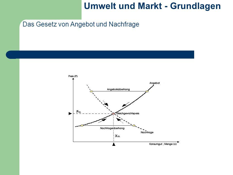 Das Gesetz von Angebot und Nachfrage Umwelt und Markt - Grundlagen