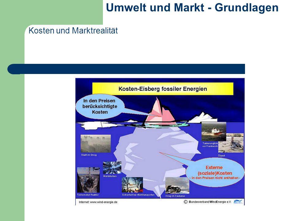 Kosten und Marktrealität Umwelt und Markt - Grundlagen