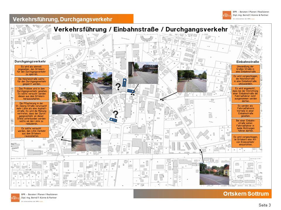 Ortskern Sottrum Seite 3 Verkehrsführung, Durchgangsverkehr
