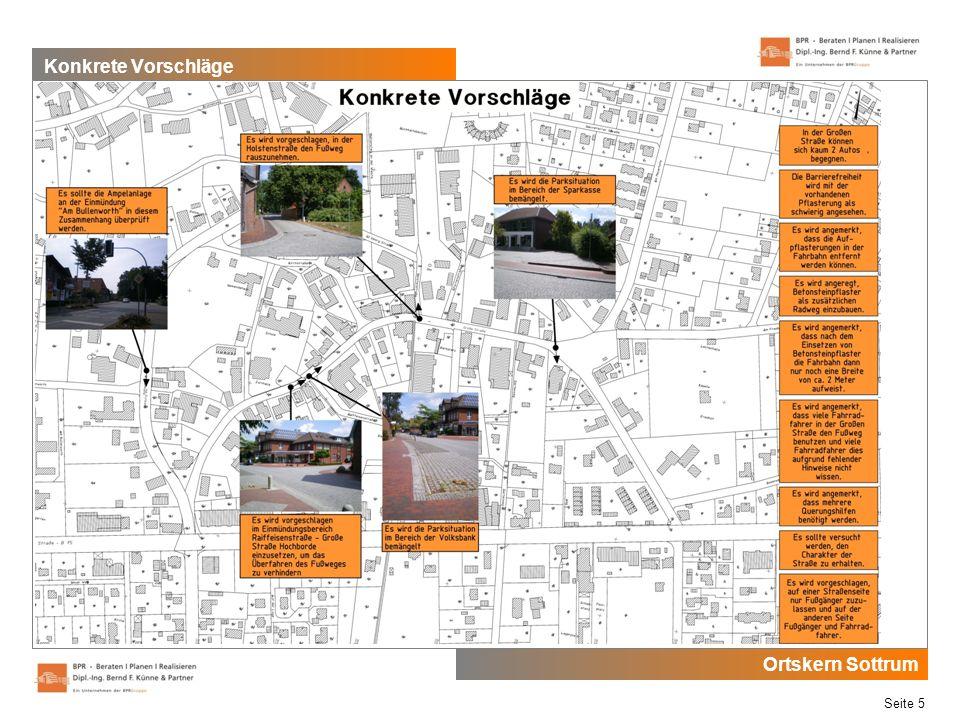 Ortskern Sottrum Seite 5 Konkrete Vorschläge