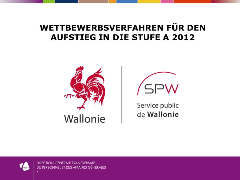 1 WETTBEWERBSVERFAHREN FÜR DEN AUFSTIEG IN DIE STUFE A 2012